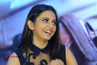 Actress Rakul Preet Singh Stills in Beautiful Blue Long Dress at Dhruva Salute to Audience Event  0135.JPG