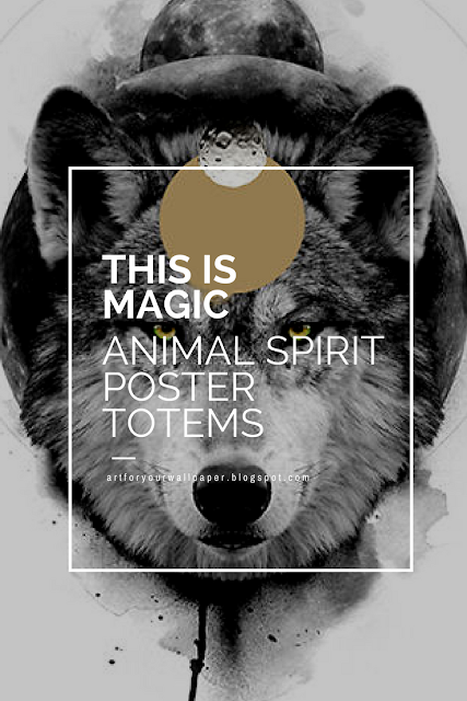 Poster Totems to Connect to Your Spirit Animals by Martin Albrecht-4