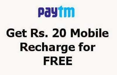 [Big Loot] Paytm Bug – Get Rs.20 Free Recharge on Every Paytm Account