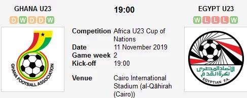 مشاهدة مباراة مصر وغانا بث مباشر في كأس افريقيا تحت 23 سنة