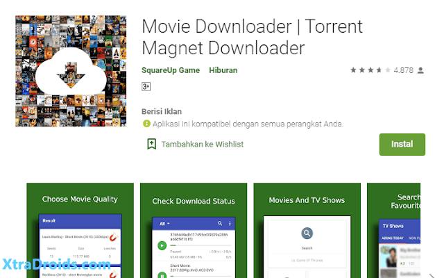 Aplikasi Movie Magnet Downloader