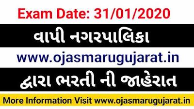 Vapi Nagarpalika Job Requirement, Vapi Nagarpalika Bharti 2020, Vapi job Bharti, Job in Vapi Nagarpalika,