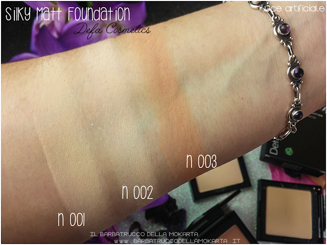 swatches Silky Matt Foundations Defa Cosmetics Fondotinta vegan