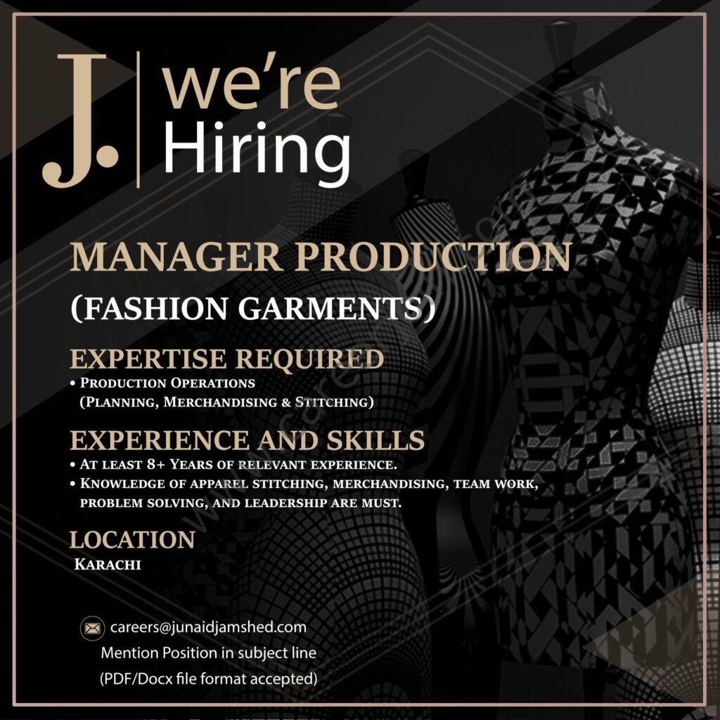 Junaid Jamshed Pvt Ltd Jobs 2021 in Pakistan
