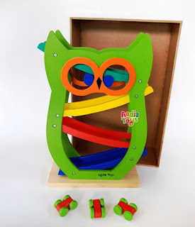 Sliding Car Owl Mainan Kayuku Agdia Toys
