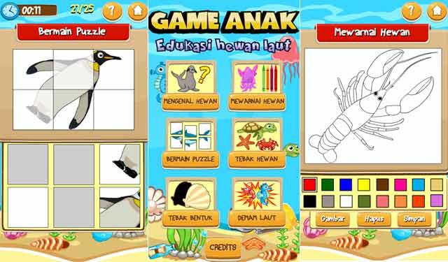 Game Edukasi Anak Hewan Laut