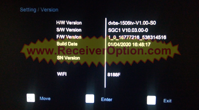 1506TV 512 4M REAL MAN HD RECEIVER NEW SOFTWARE WITH ECAST OPTION