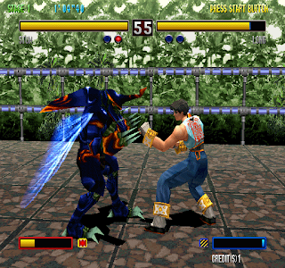 Two players are fighting