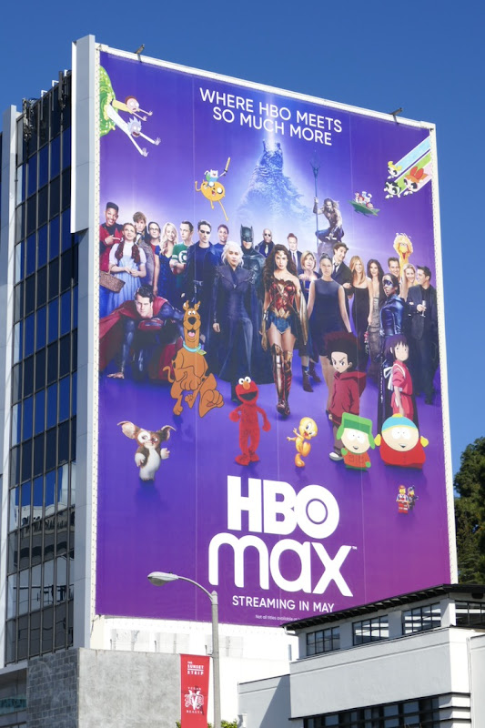 Giant HBO Max launch billboard