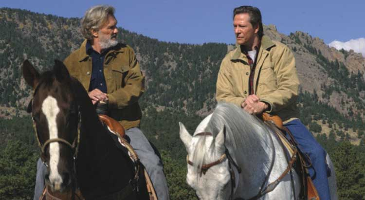Kris Kristofferson explains the situation to Chris Cooper in John Sayles' Silver City.
