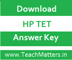 image ; Download HP TET Answer Key for JBT @ TeachMatters