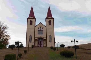 Church of Loncotoro, village near Llanquihue, Chile.
