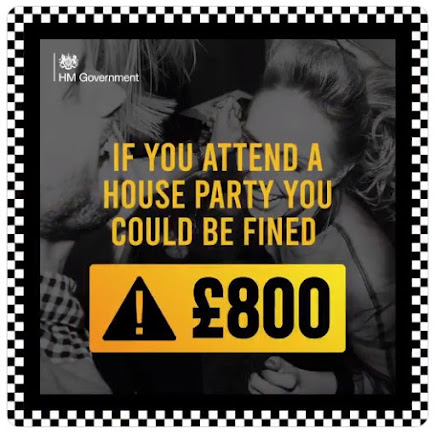 House parties new fine £800 UK Government