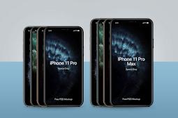 Gratis iPhone 11 Pro & 11 Pro Max Mockup PSD | Semua warna