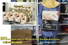 Sprei Luxury Kintakun Queen B2 160x200xT25 Sweet Rose Bunga Mocca Dewasa