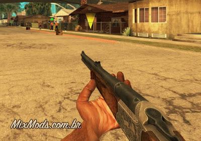 gta sa san mod fps first person câmera primeira pessoa arma