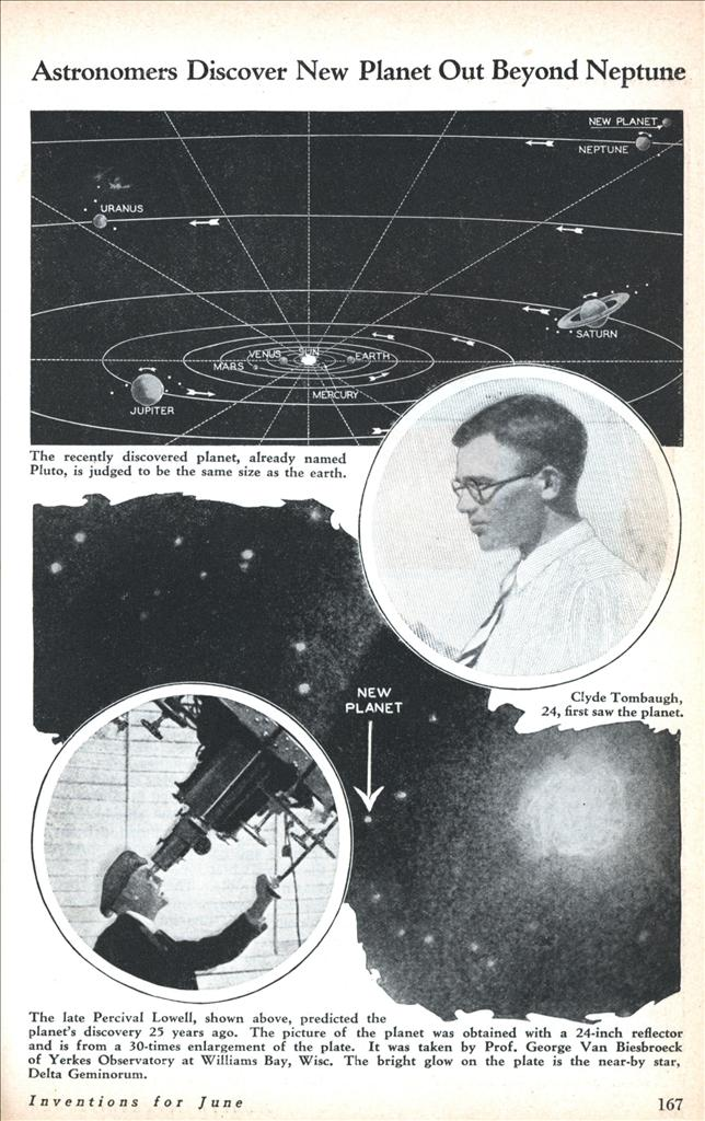 Discovery Of Pluto: LaurelsPlutoBlog: Planet Pluto Discovered 82 Years Ago Today