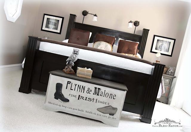 Master Bedroom Handpainted Flynn & Malone Blanket Chest, Bliss-Ranch.com