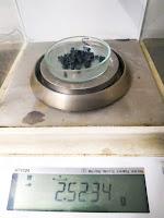 analytical balance with sample
