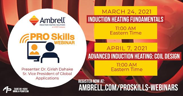 Register Now for Ambrell PRO Skills Webinars