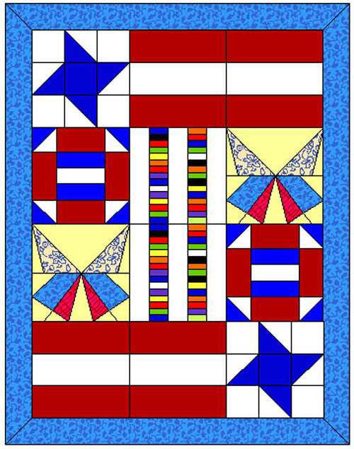 The American Spirit Quilt - Free Pattern