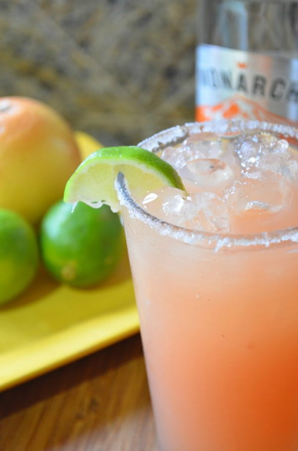 Pink Grapefruit Lime Margaritas Recipe is a favorite margarita recipe from Serena Bakes Simply From Scratch.