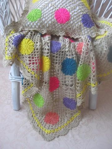 Детский плед крючком: очаровательный комплект в коляску