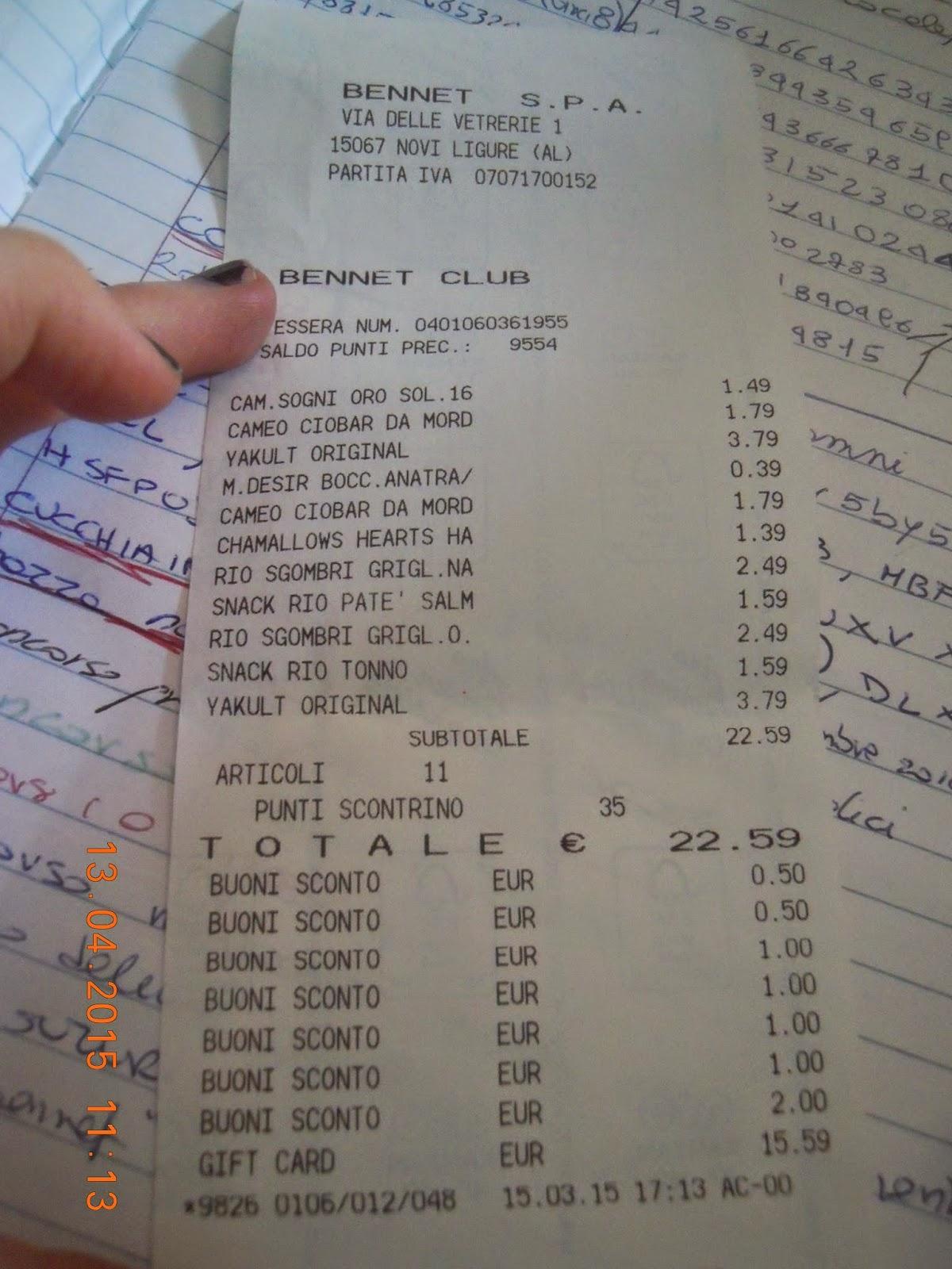 size 40 17102 eb01a Il Blog di didì avon: Tante spese bennet gratis...buoni ...