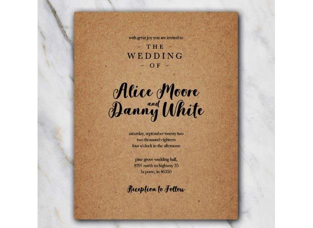 contoh desain undangan pernikahan word