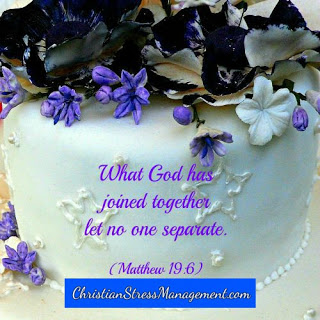 What God has joined together let no one separate. (Mark 10:9, Matthew 19:6)