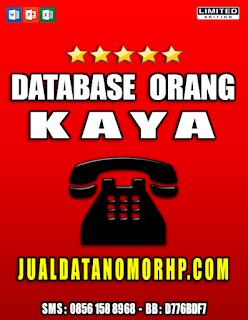 Jual Database Orang - Orang Kaya