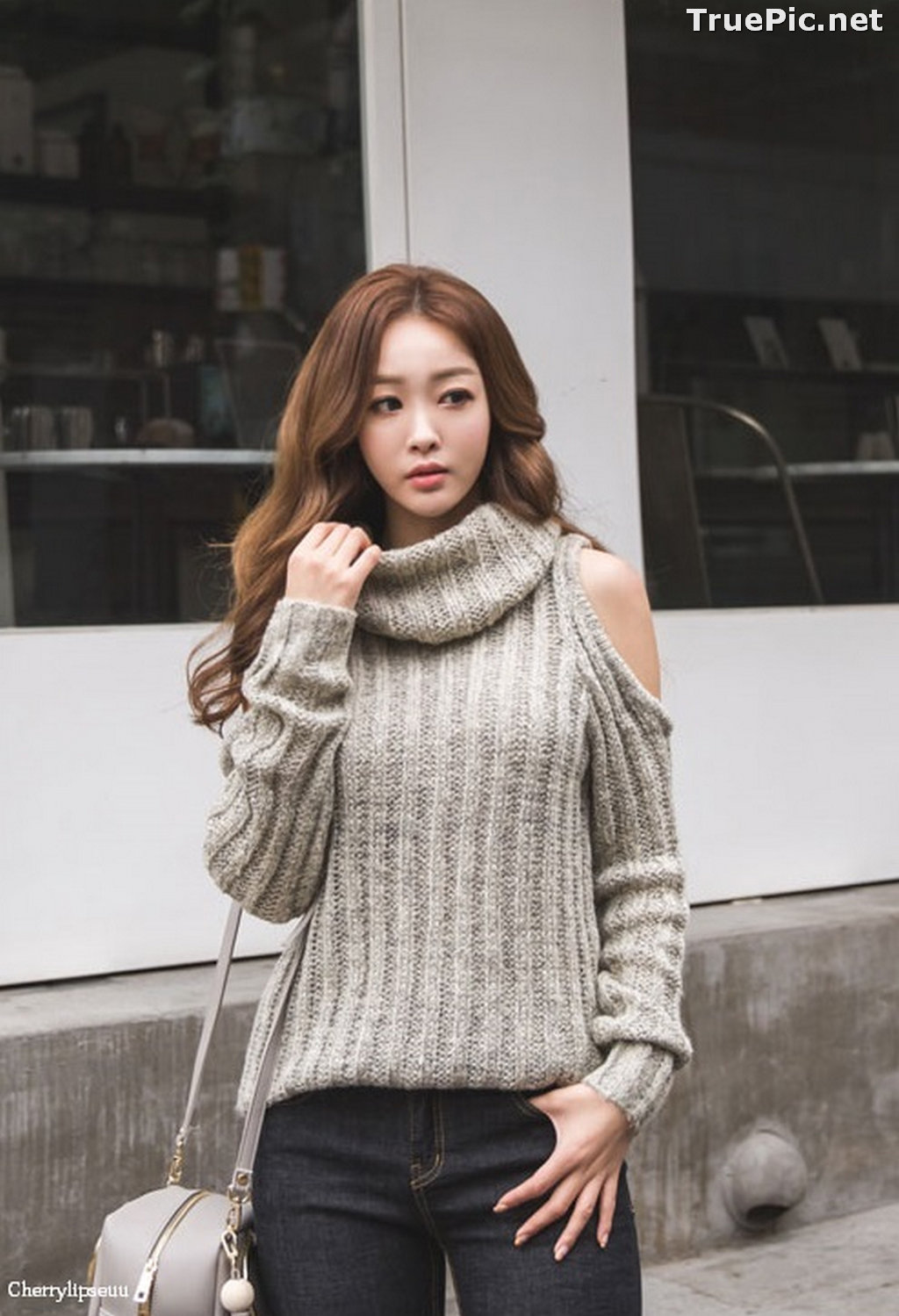 Image Korean Fashion Model - Ji Hyun - Casual Outdoor Collection - TruePic.net - Picture-7
