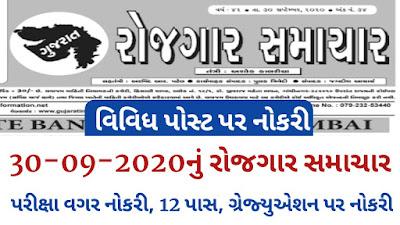 Download Gujarat Rojgar Samachar pdf (30-09-2020)