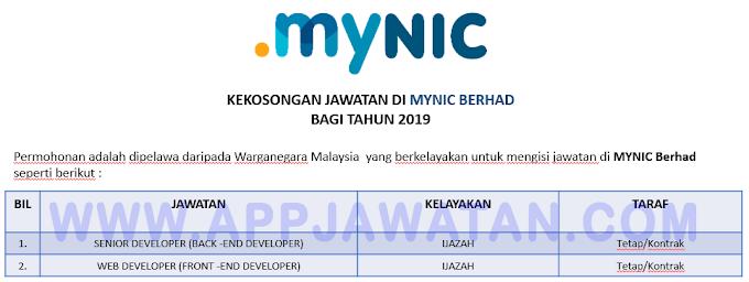 Jawatan Kosong Terkini di MYNIC Berhad.