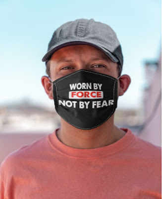 Worn By Force Not By Fear Face Masks Facemask Mask. GET IT HERE
