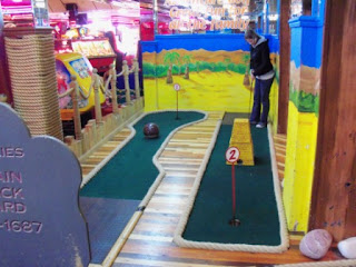 Indoor Adventure Golf at the Fairworld Amusement Arcade in Cleethorpes