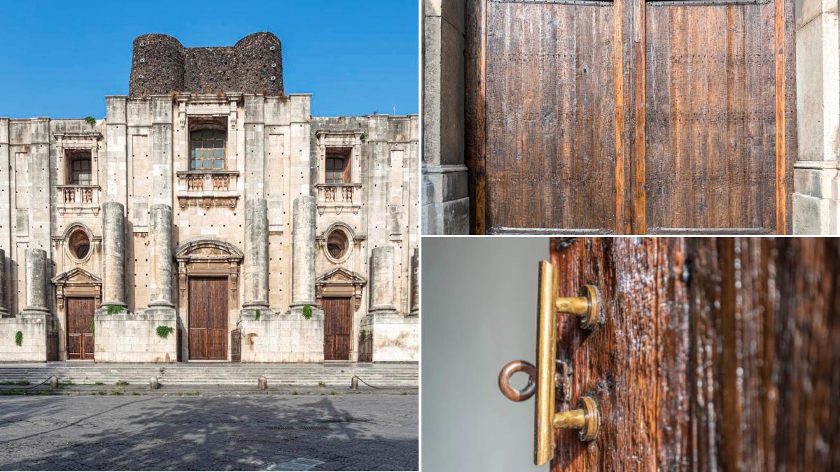 Chiesa San Nicolò l'Arena restauro portoni