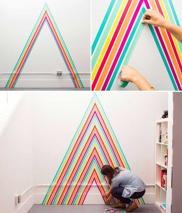 Washi Tape Wall Art Interior & Home Design