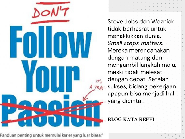 """Reading Journey """"Don't Follow Your Passion"""""""