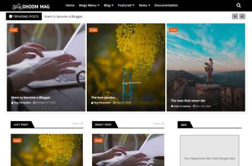 Blogger Template Dhoom Mag