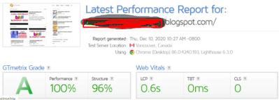 Tamplate Blogspot Gratis Premium Dari Jttheme performa GTMetrix