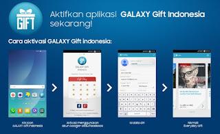 cara mengaktifkan dan ikut dalam event Aplikasi Galaxy Gift Indonesia