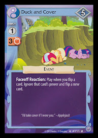 My Little Pony Duck and Cover Premiere CCG Card