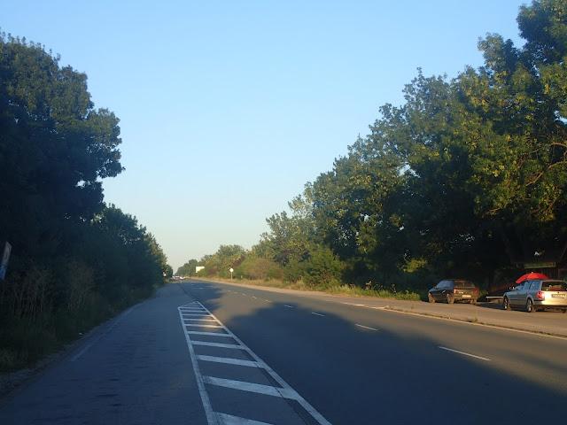 Jedna z bułgarskich dróg krajowych (jednocyfrowych) (lipiec 2017)