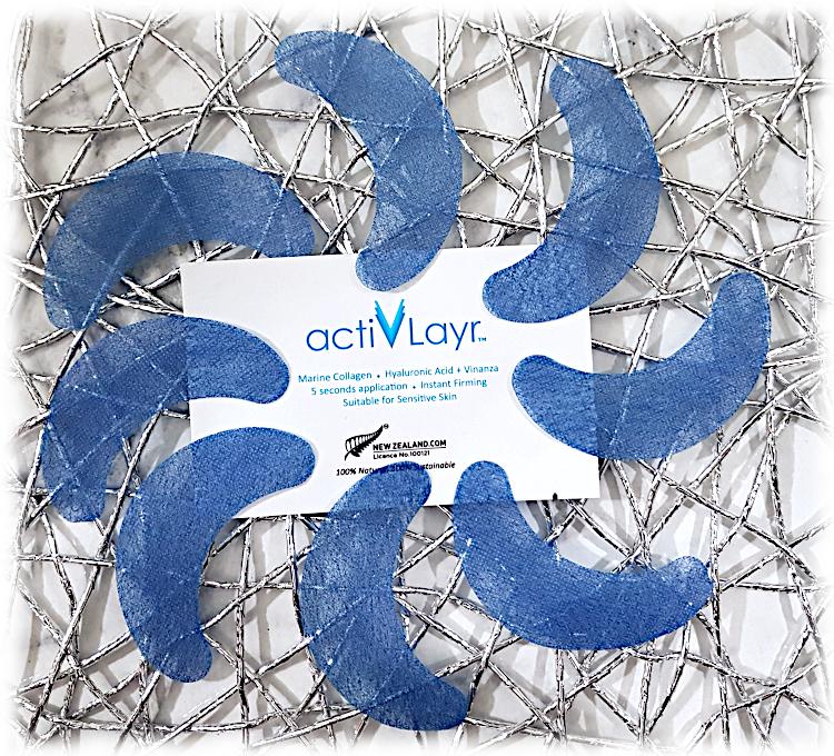 ActivLayr blue eye masks and sachet