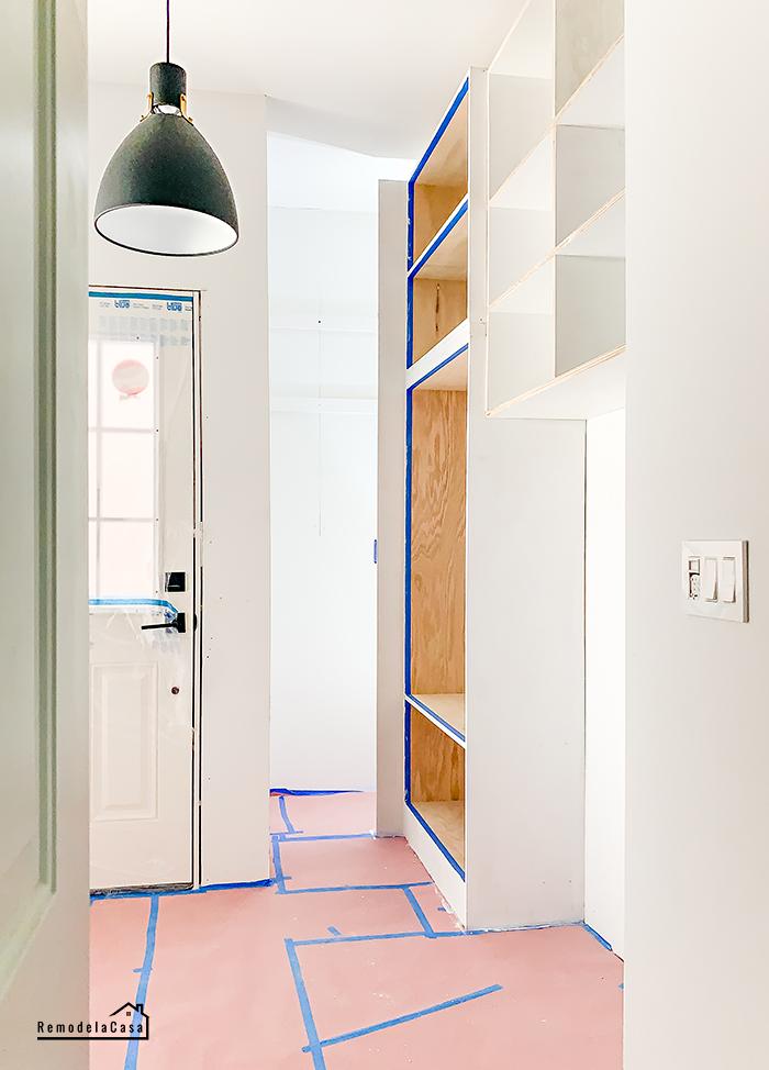 diy cabinets in mudroom