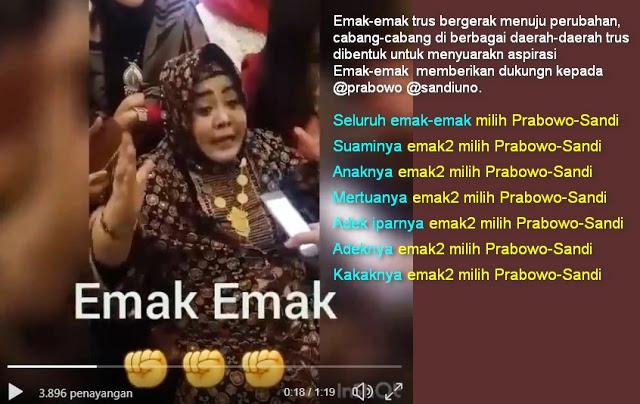 Pesan Emak-emak di Pilpres 2019: Semua Pilih Prabowo-Sandi