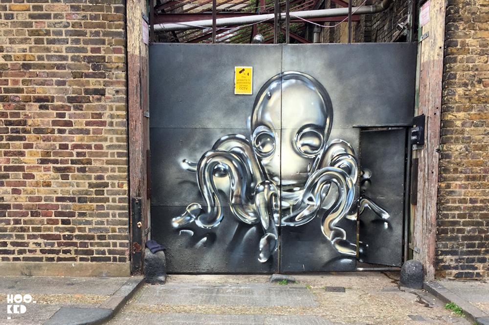 Mural by London Street Artist Fanakapan_©Hookedblog