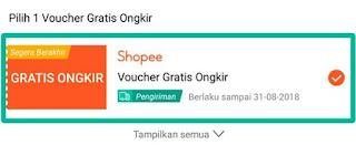 Shopee tidak bisa pakai 2 voucher