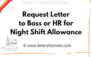 request letter for night shift allowance